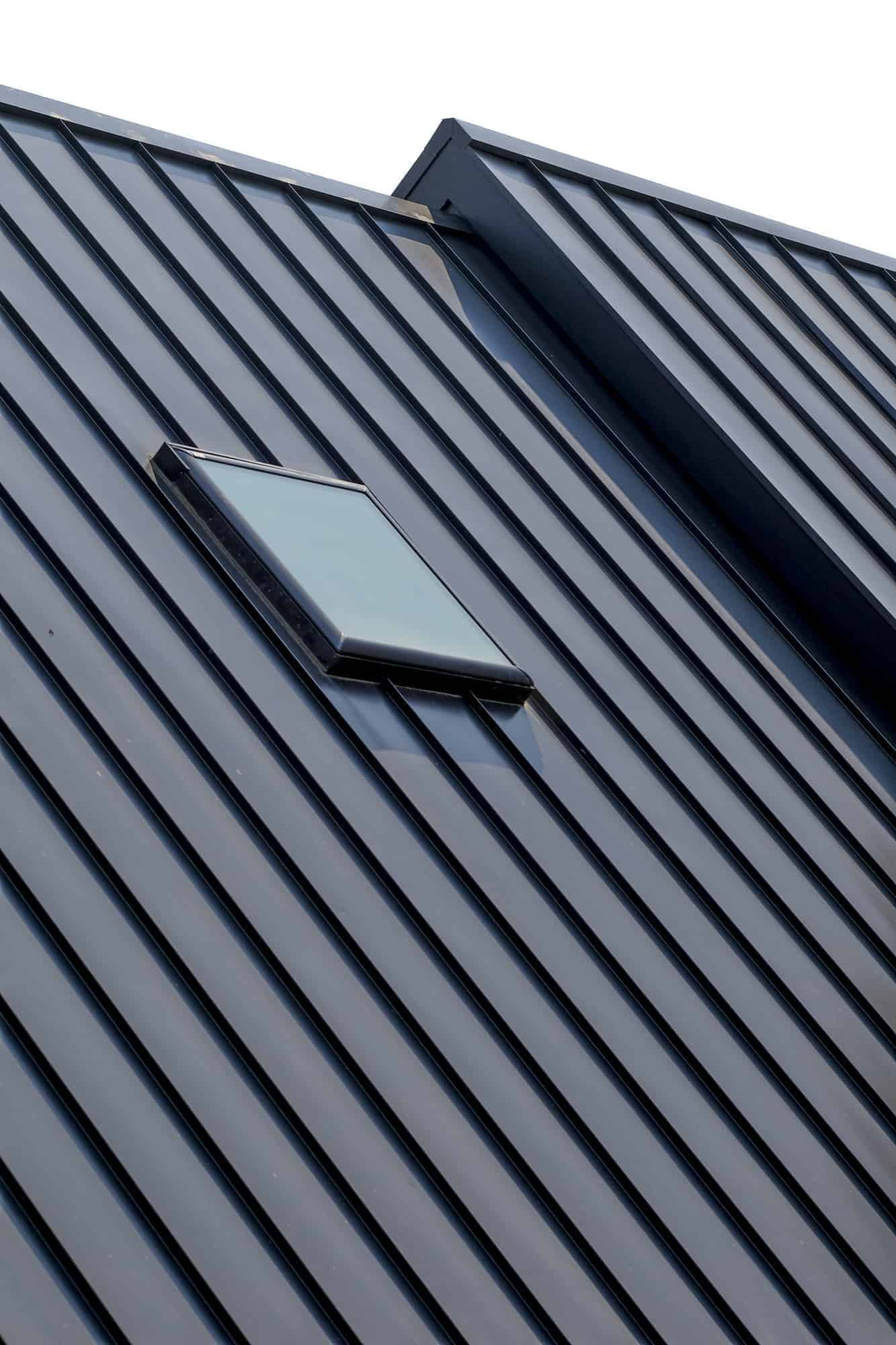 Snaplock Roofing with Strong Bold Lines