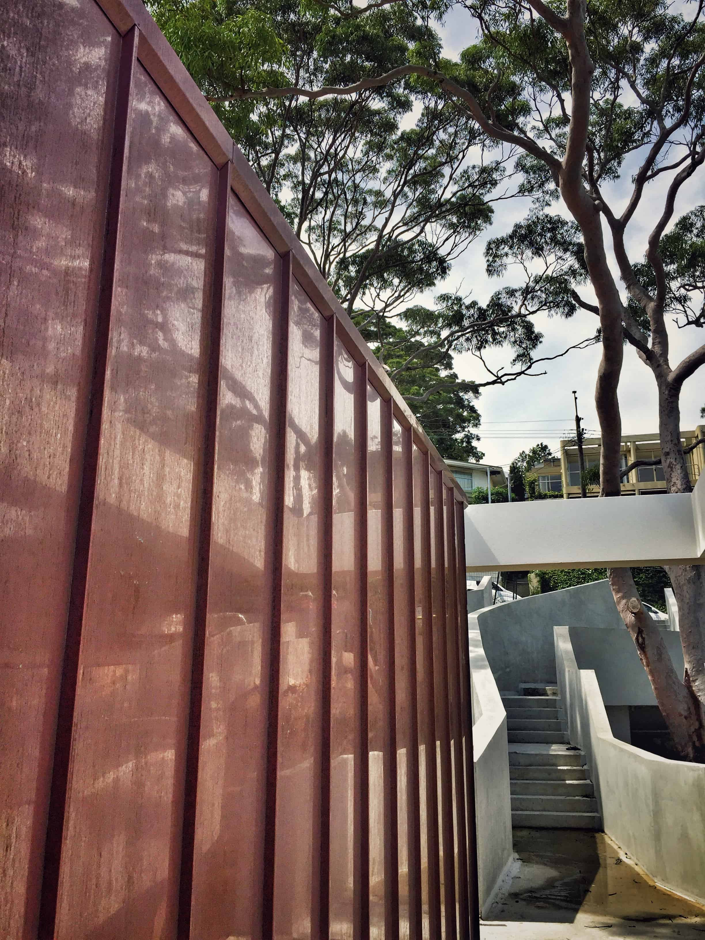 Standing Seam Corten Cladding to Walls