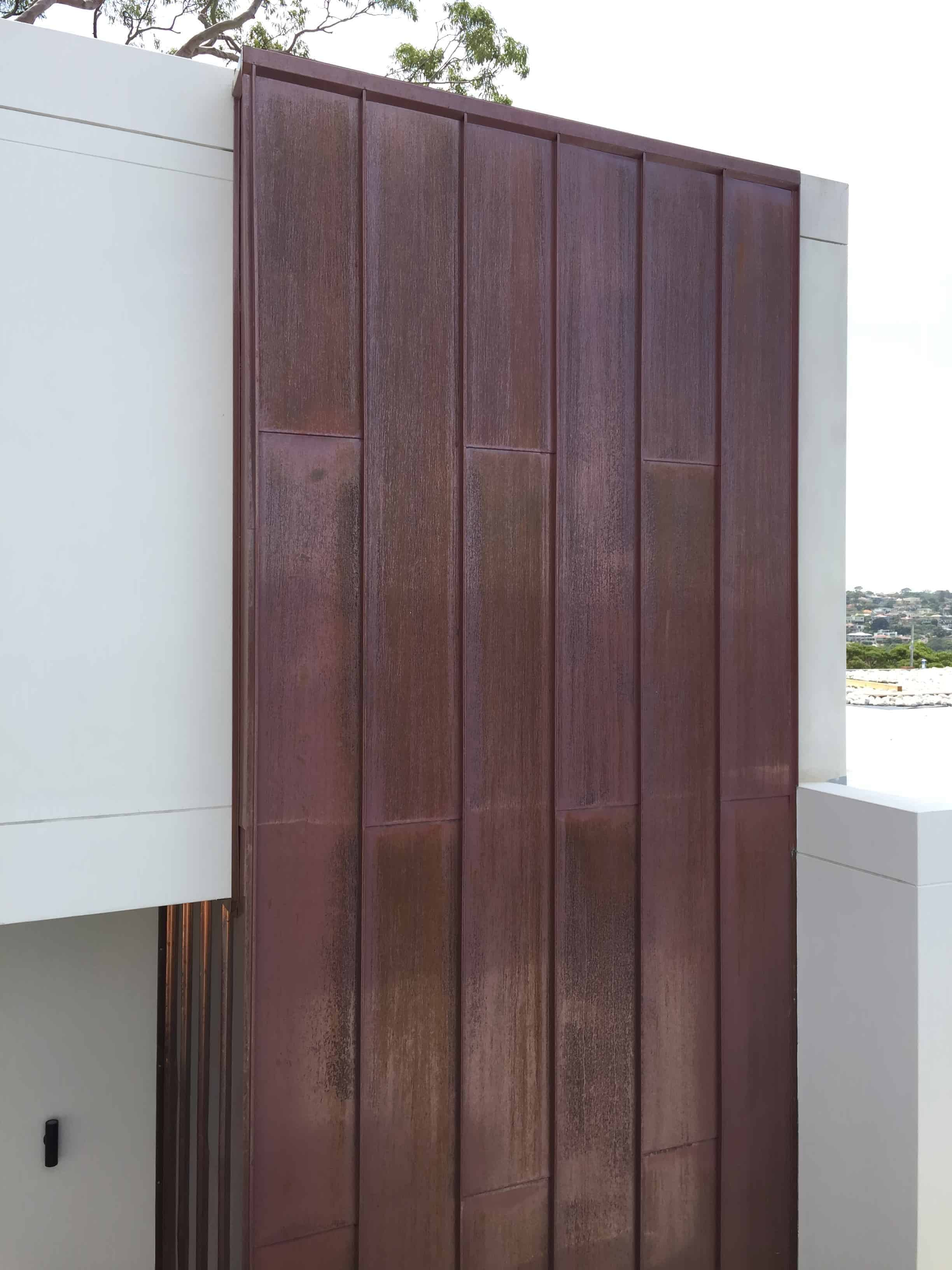 Standing Seam Corten Featured Exterior Wall