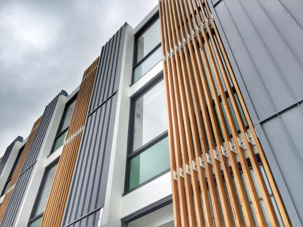 Grey Nailstrip Adds a Modern Touch To The Building