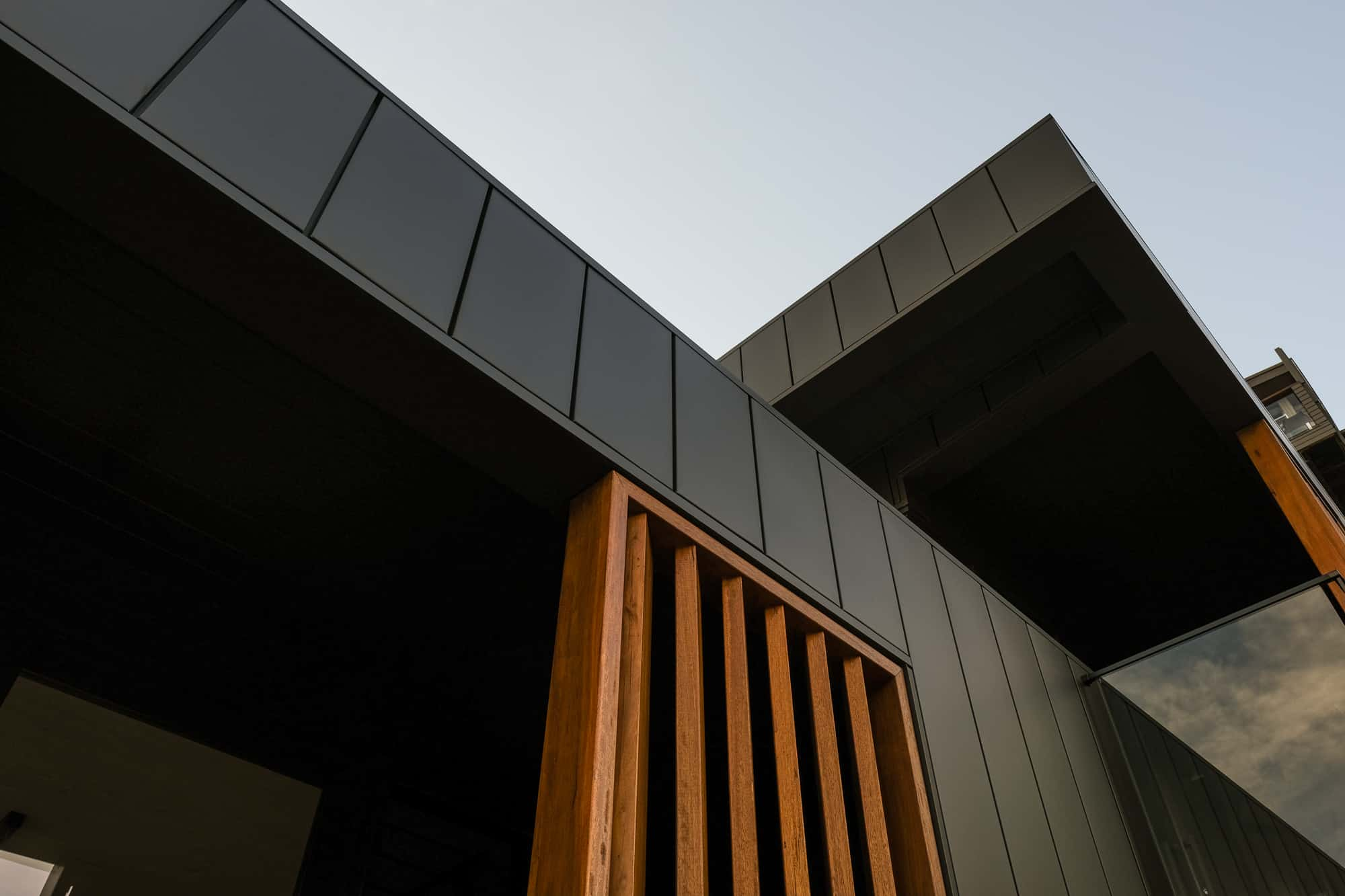 Interlocking Panels On Seaforth Property Compliments The Wood Perfectly
