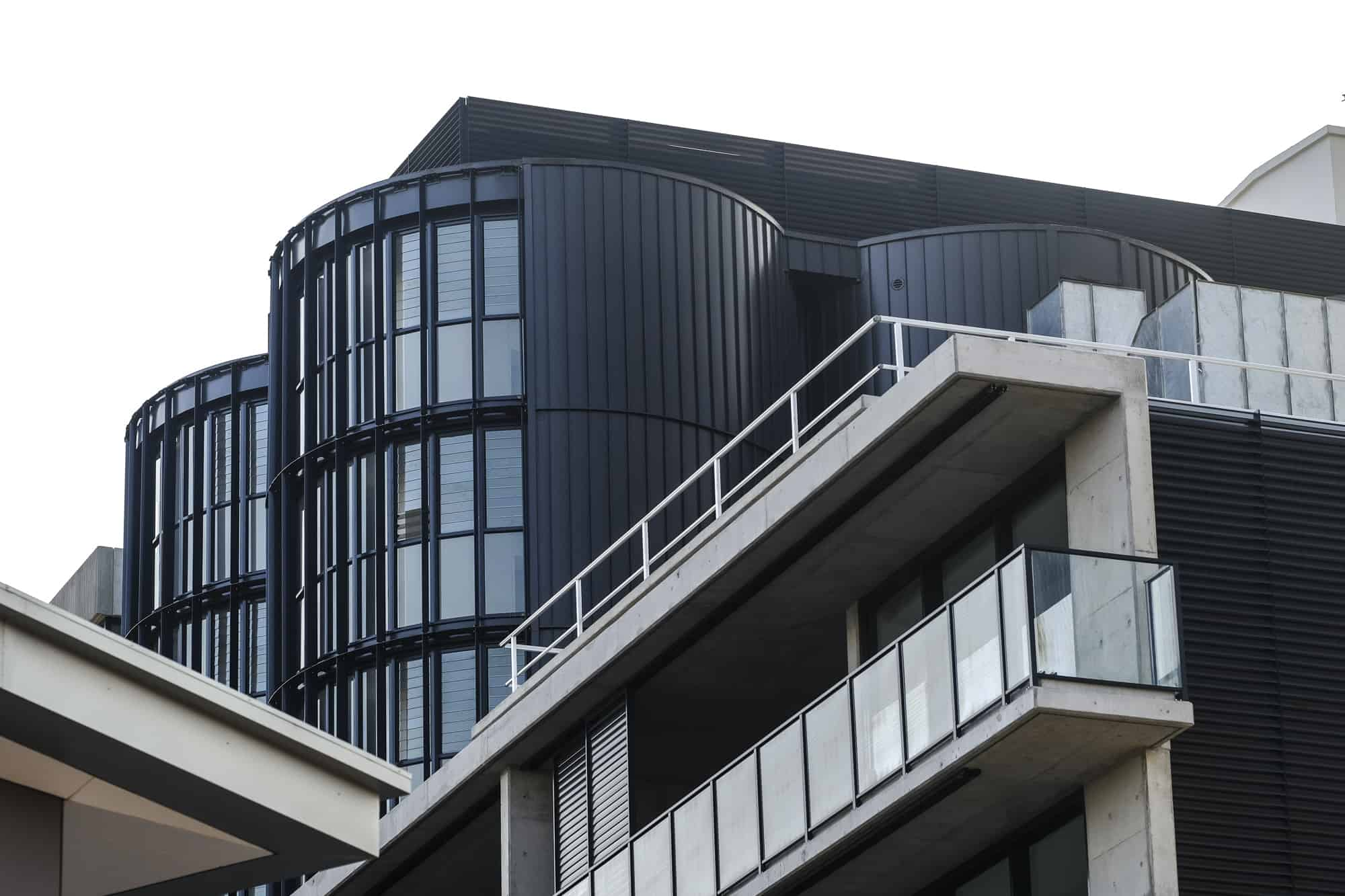Matt Black Nailstrip on Summer Hill Building Stands Out From The Crowd