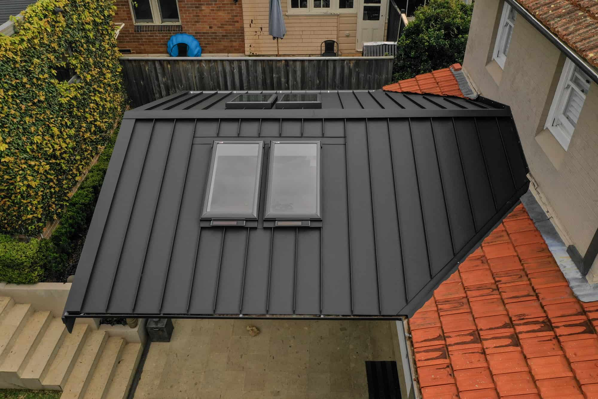 Snap-Line45® Roofing System With Solar Powered Skylights